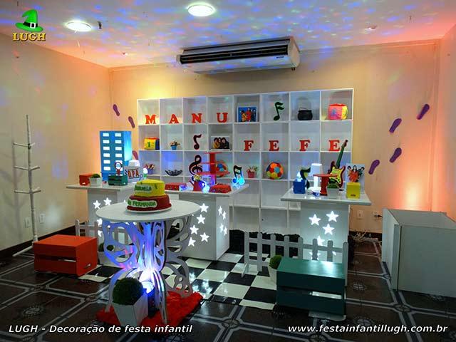 Detetives do prédio azul - Decoração de mesa tema D.P.A para festa de aniversário