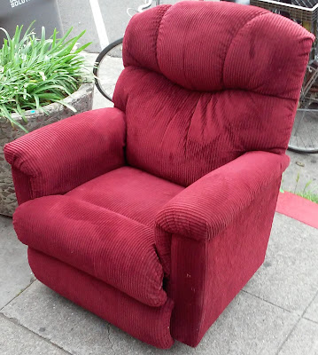 UHURU FURNITURE & COLLECTIBLES: SOLD **REDUCED** Burgundy Corduroy ...