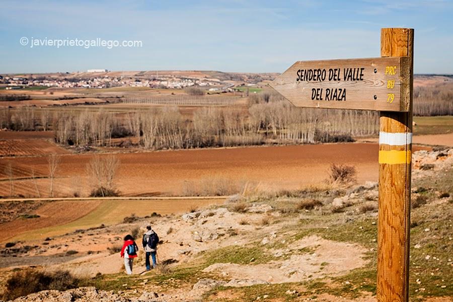 Sendero del Valle del Riaza. Aza. Burgos. Castilla y León. España.