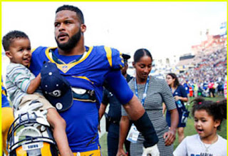 Aaron Donald With His Two Sons