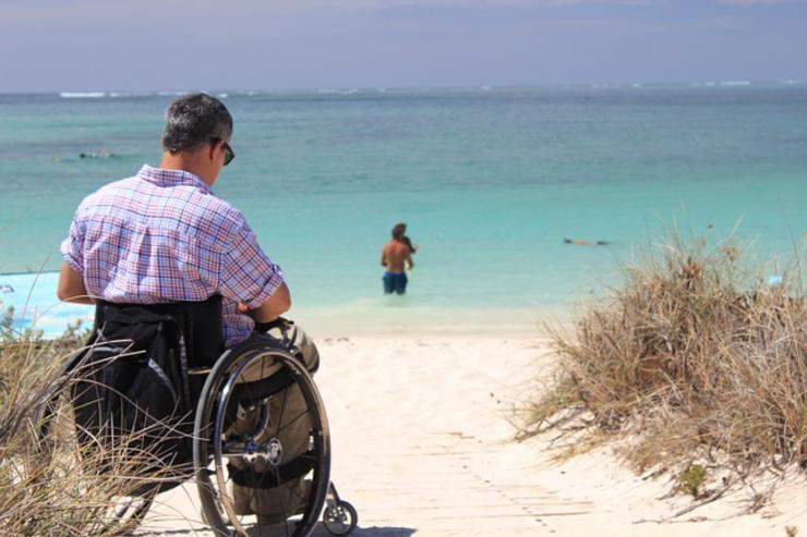 Visiting the beach in a wheelchair