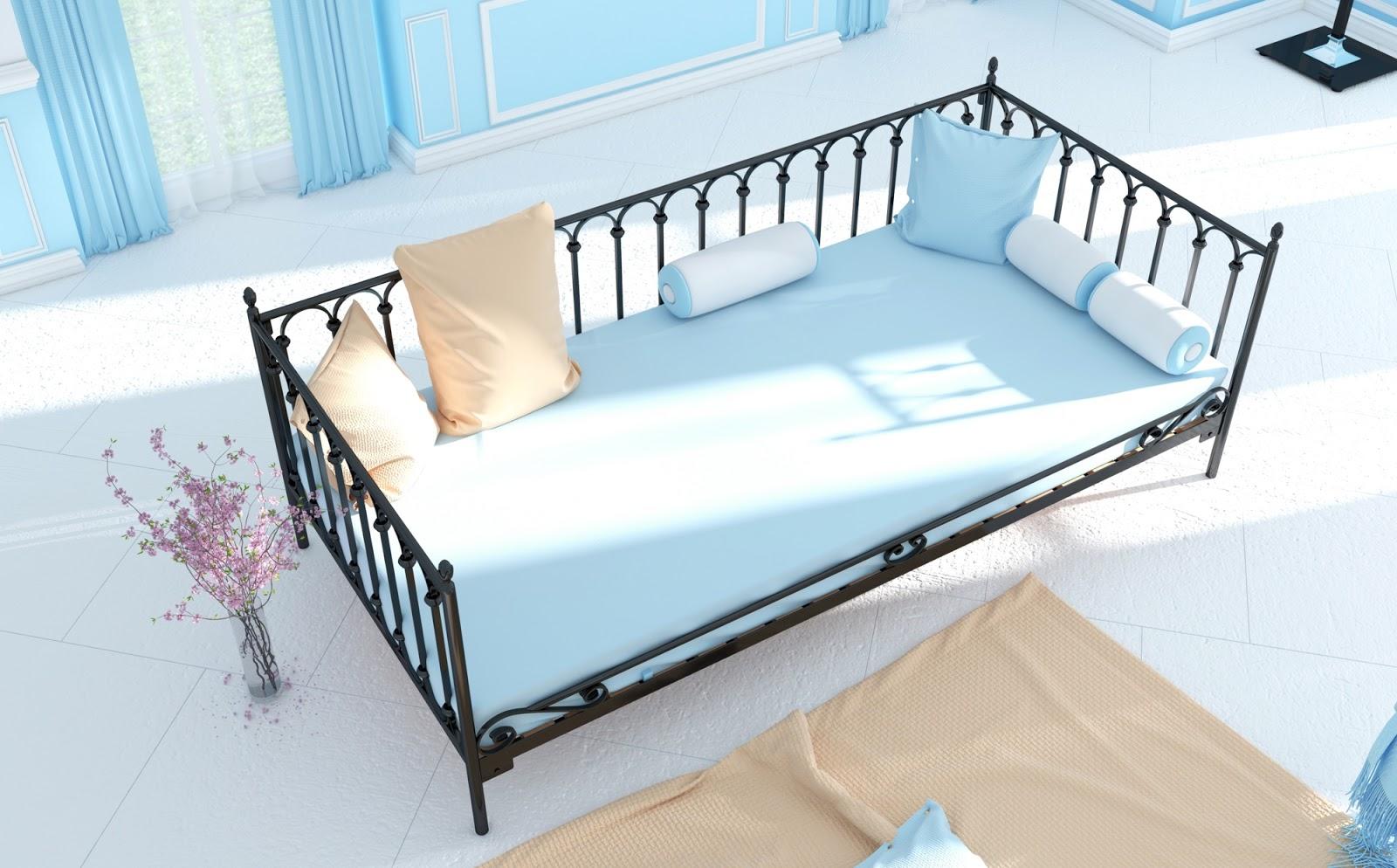 Łóżko metalowe sofa wzór 8S