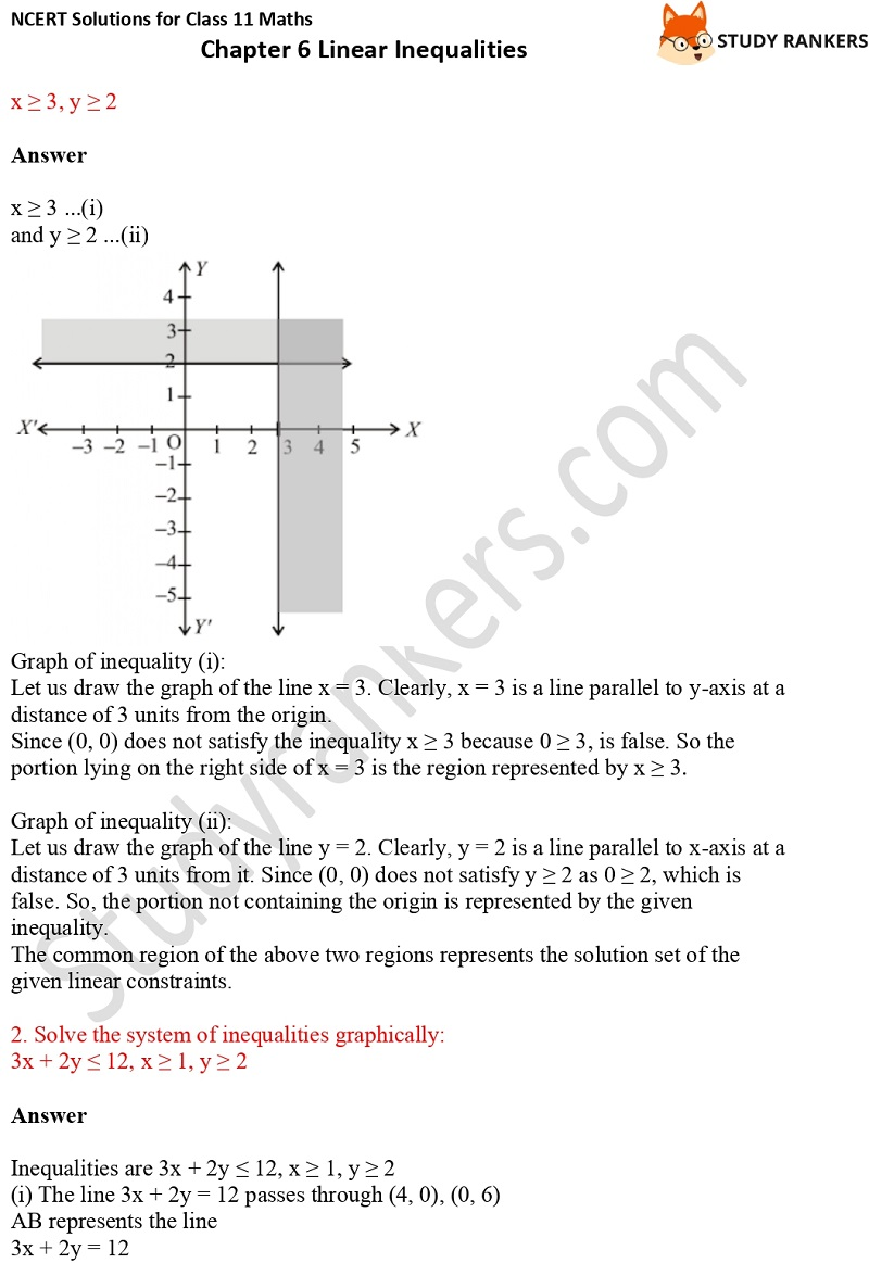 NCERT Solutions for Class 11 Maths Chapter 6 Linear Inequalities 17