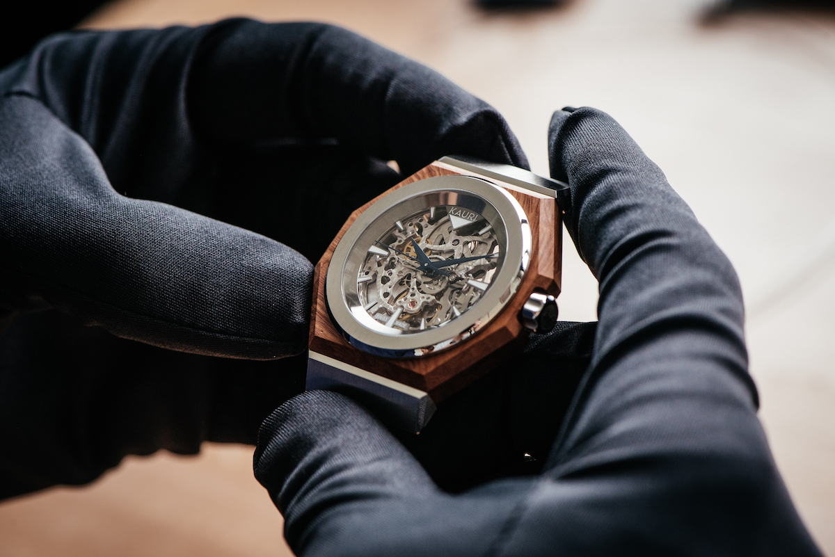 Swiss watchmaker offers customized watches with wooden cases