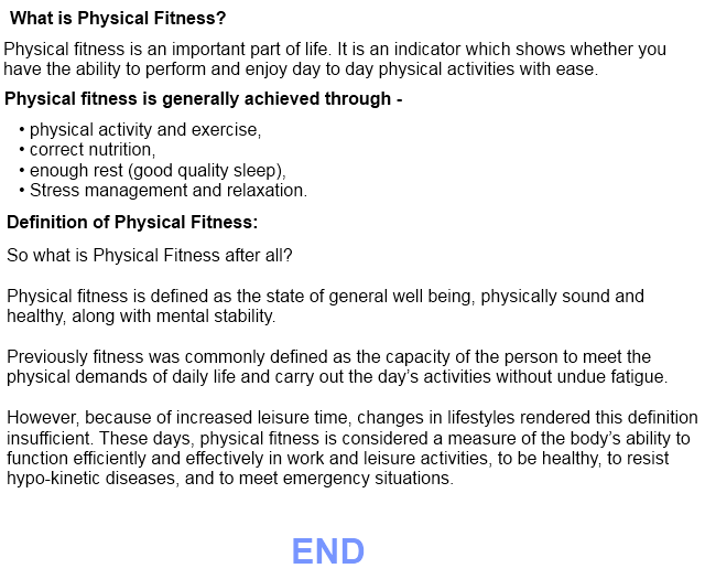 what is physical fitness definition