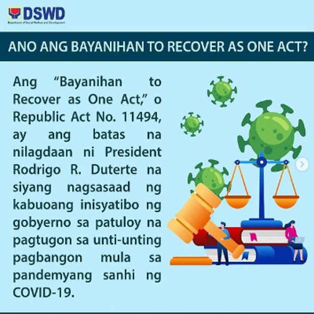 ano ang bayanihan to recover as one act