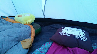 inside the cosy tent