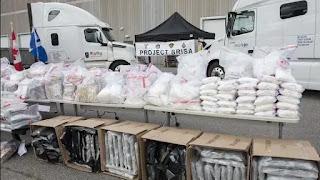 Drugs worth $49.49mn seized in Canada