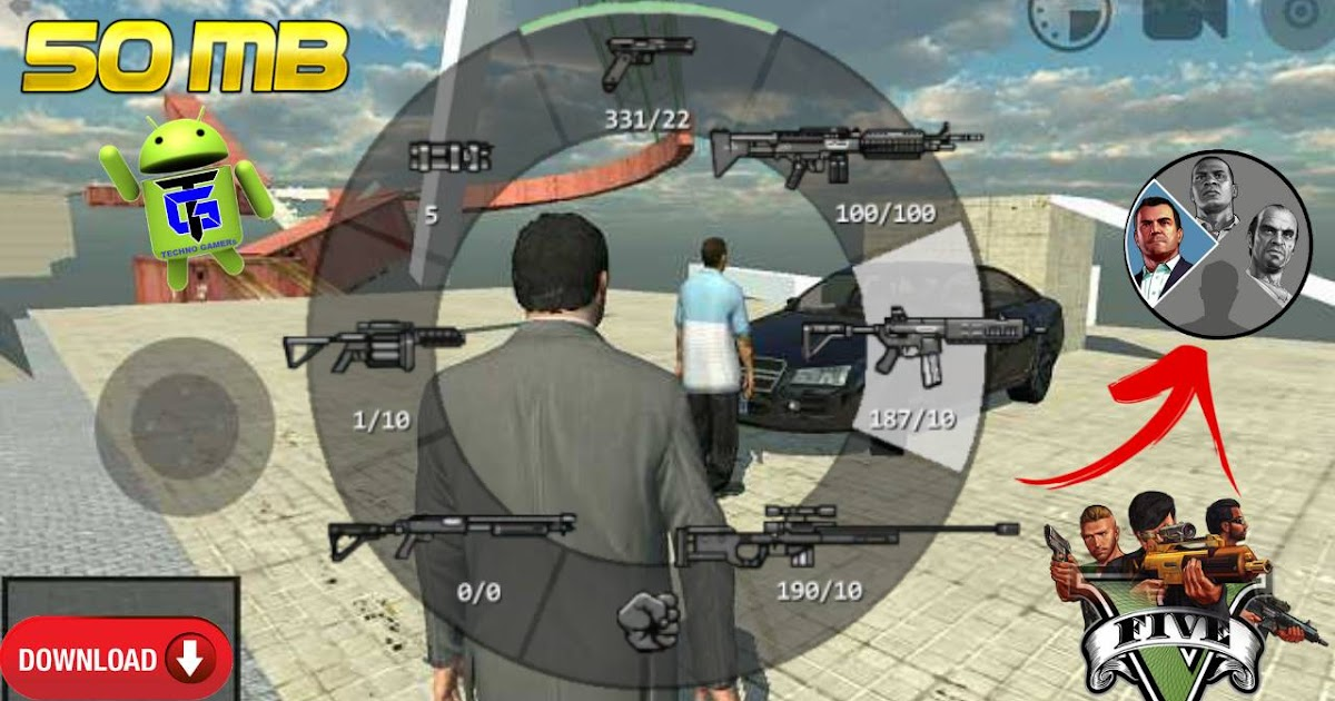 Download GTA 5 Unity Android cheat APK Game
