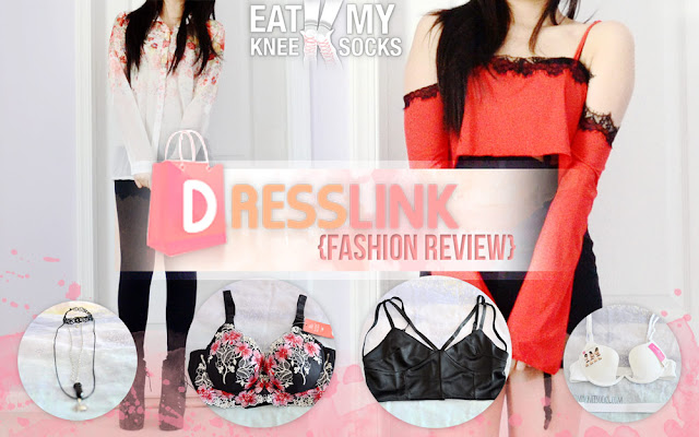 Today I'll be reviewing six new items from Dresslink, including a strappy black V-neck bralette, floral longline bra, sheer floral blouse, multi-way plunge bra, red cold-shoulder lace-trim crop top, and 3-piece choker necklace set. The best part? All six items, in total, costed less than $25!
