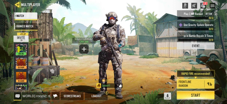 Multiplayer mode lobby
