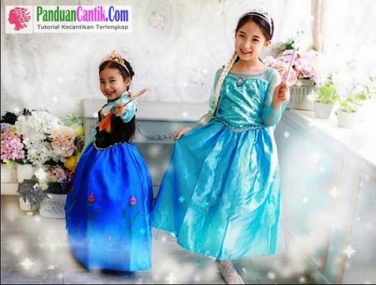 Baju Frozen Anak Perempuan Elsa dan Anna Asli Disney Murah - 5 Gambar Desain Model Gaun Baju Frozen Anak Murah Online