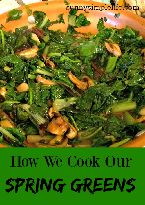How We Cook Our Fresh Greens