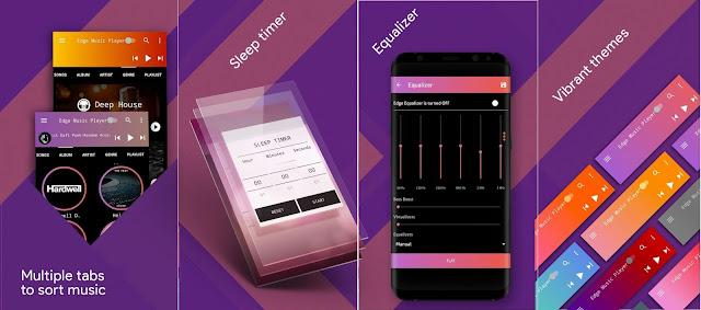 Tampilan Aplikasi S8 Edge Music Player