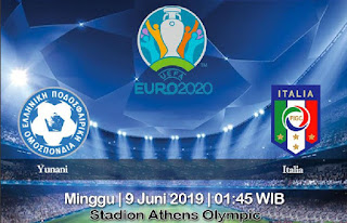 Prediksi Yunani vs Italia 9 Juni 2019