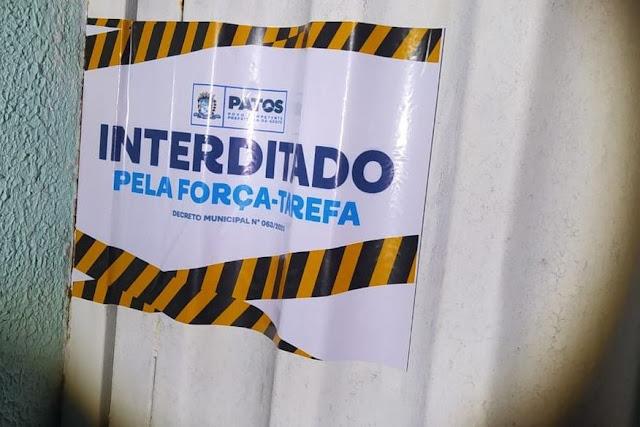 Após denúncias de festas clandestinas, força-tarefa da covid-19 interdita duas áreas de lazer em Patos