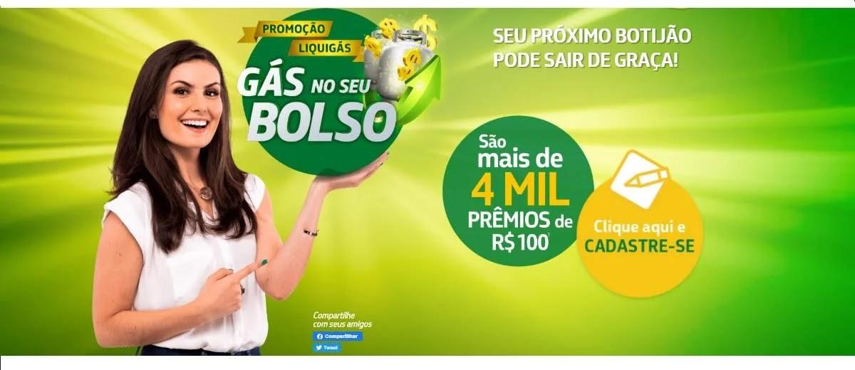 Promoção Liquigás 2020 Prêmios 100 Reais