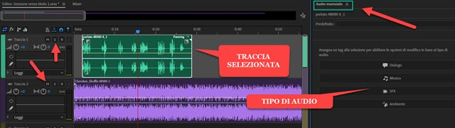 tipo di audio in audition