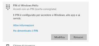 Accesso PIN