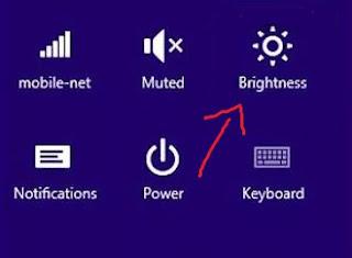 pengaturan cahaya pada windows 8