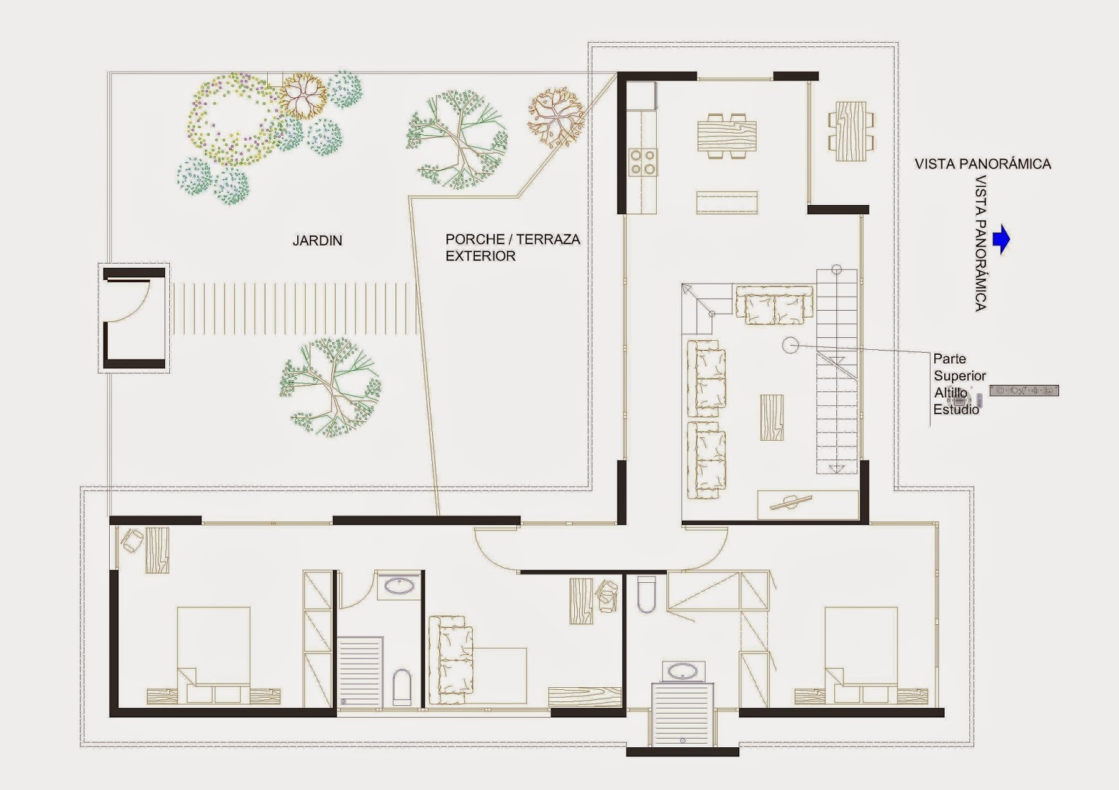 Javier catal n arquitectura dise o funcional de casa de for Disenos de casas 120 m2