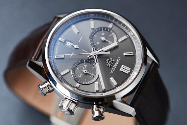 Review the 2020 TAG Heuer Carrera Chronograph 42mm Calibre Heuer 02 Black Dial Replica