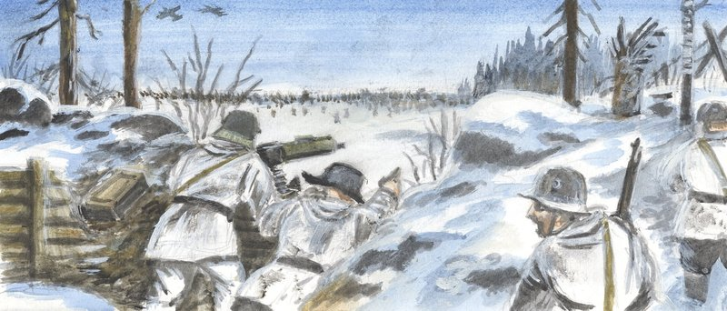 winter war in finland The winter war (finnish: talvisota, swadish: vinterkriget, norse: vinterkrigen, roushie: зи́мняя война́) wis a militar conflict atween the soviet union an finland in 1939–1940 it began wi the soviet invasion o finland on 30 november 1939 (three month efter the ootbreak o warld war ii ), an endit wi the moscow peace treaty on 13 .
