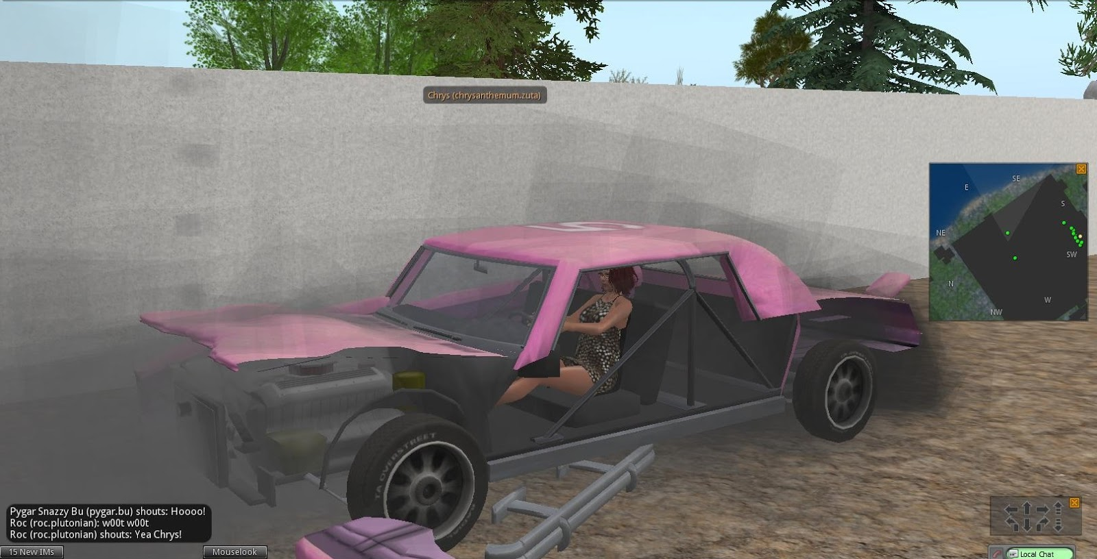 Second Life Newser: Bay City\'s Demo Derby and The Last Summer Fireworls