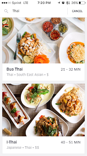 UberEATS Thai options in D.C.