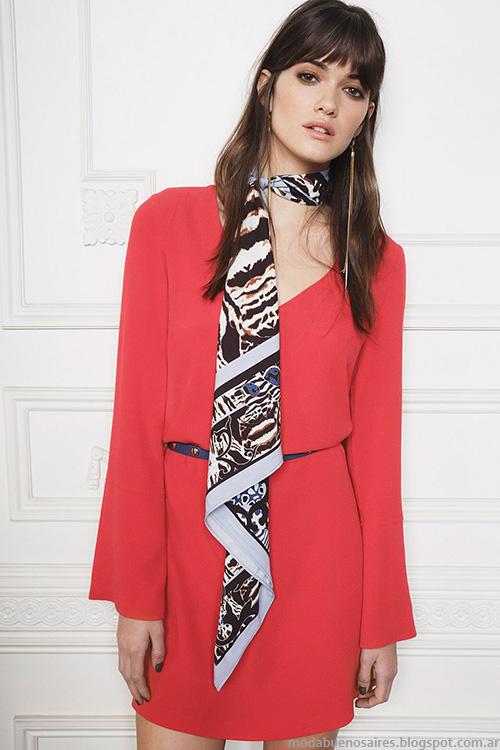 Vestidos de mujer cortos invierno 2016 ropa Ayres.