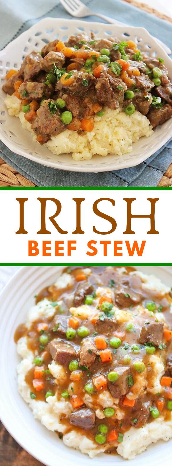IRISH BEEF STEW #dinner #slowcooker