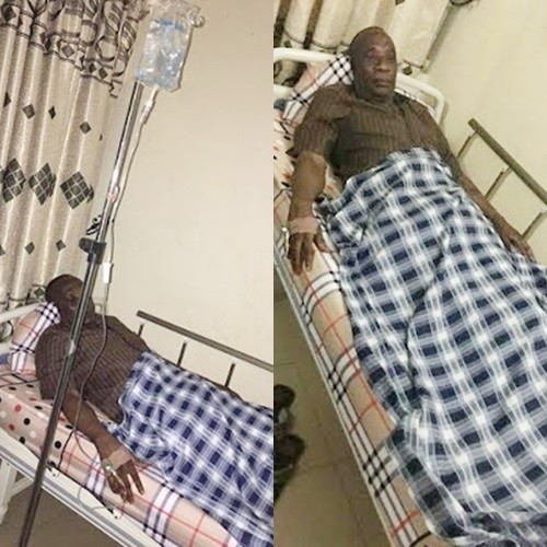 UPDATE: Ekiti Lawmaker Released by DSS Spotted Very Sick at a Hospital in Abuja (Photos)