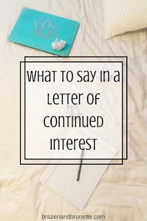 the letter of continued interest   brazenandbrunette.com