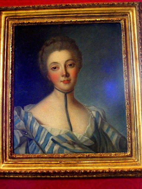 Nattier portrait of Louise Dupin, Chenonceau. Indre et Loire. France. Photo by Loire Valley Time Travel.