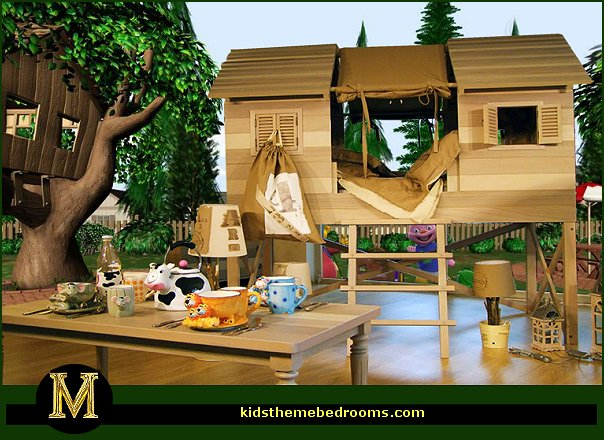 Treehouse Theme Bedrooms Backyard Themed Kids Rooms Cat Decor Dog Bugs
