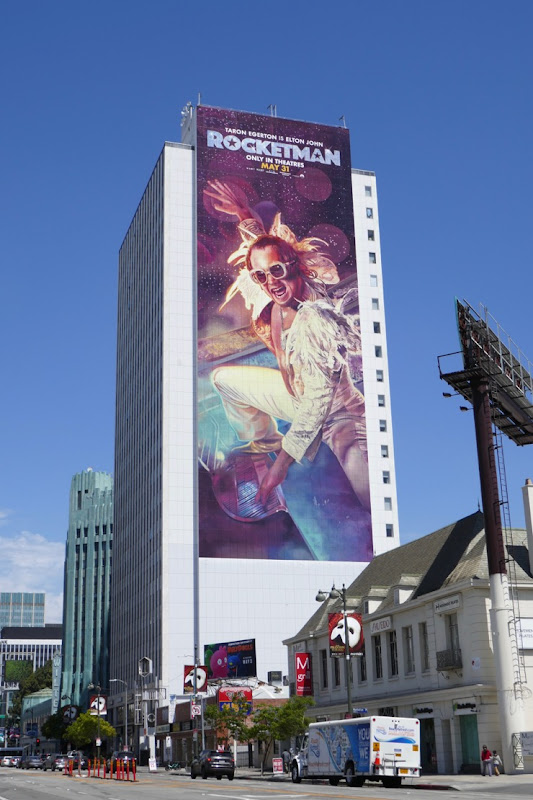 Giant Rocketman film billboard