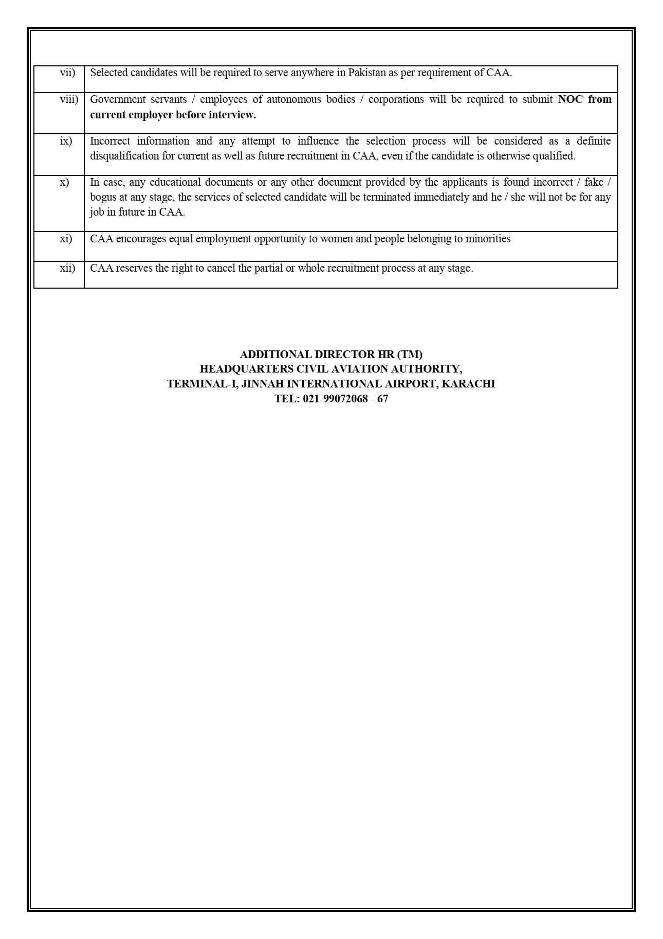 Pakistan Civil Aviation Authority PCAA Jobs 2021