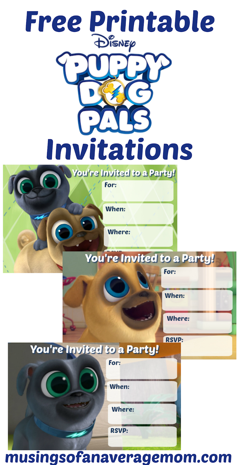 Musings Of An Average Mom Puppy Dog Pals Invitations