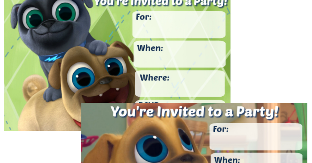 puppy dog pals invitations
