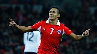 Sanchez Berkostum Nomor Keramat 7, Sama Dengan  Beckham dan Ronaldo