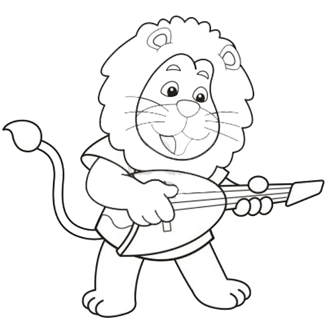 Gambar Mewarnai Singa Untuk Anak - 5