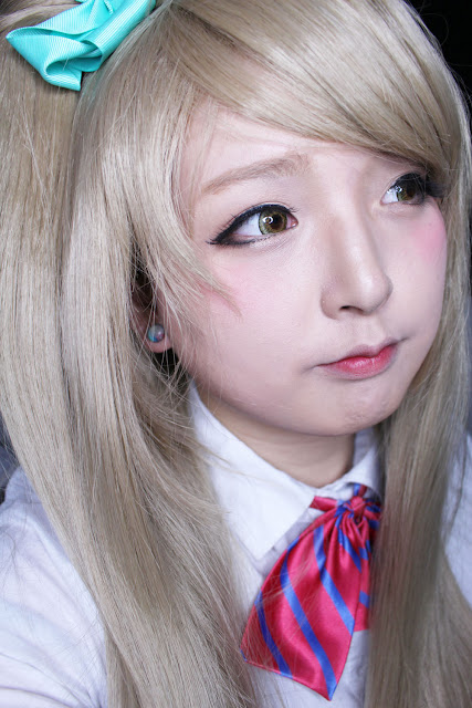 (Review ★) ICK Cherie 3 Brown & Love Live! Wig Minami Kotori [SPONSORED by UNIQSO]
