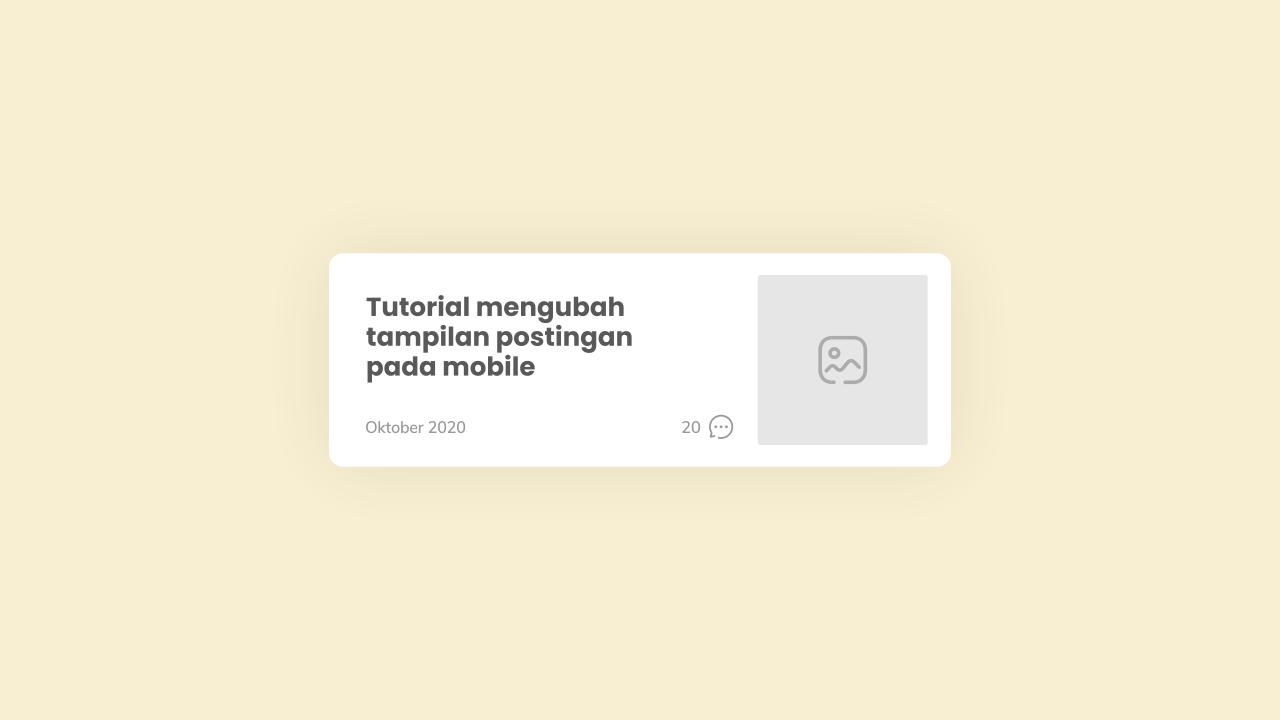 Mengembalikan Tampilan Artikel pada Versi Mobile