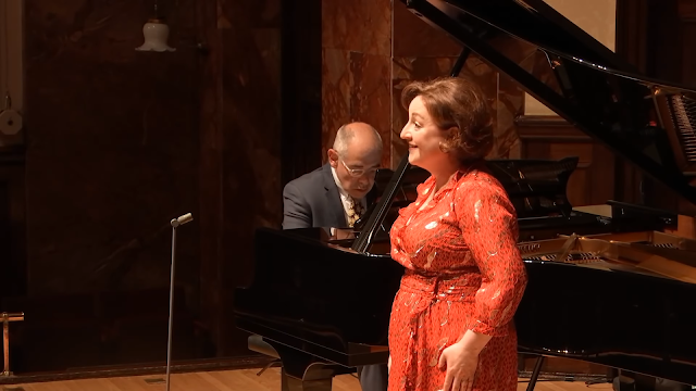 Ailish Tynan and Iain Burnside at Wigmore Hall (Photo taken from Live Stream)