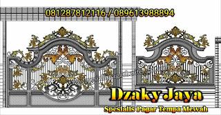 Desain Gerbang Pagar Tempa Mewah