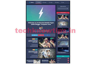 Vletters Free Theme AMP Blogger Template