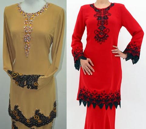Model Baju Kurung Modern Lace 2016