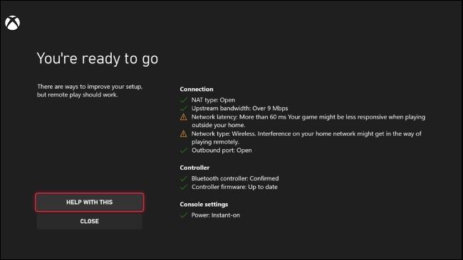 اختبار اللعب عن بُعد على Xbox Series X | S.