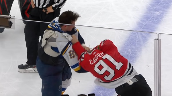 vince dunn drake caggiula nhl hockey fight