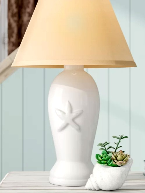 Ceramic Starfish Table Lamp